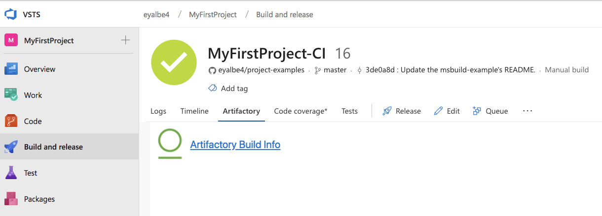 Azure DevOps and TFS Artifactory Extension - JFrog Artifactory